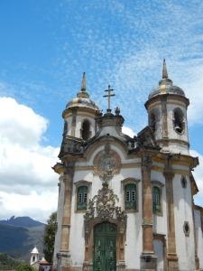 Una della chiese di Ouro Preto